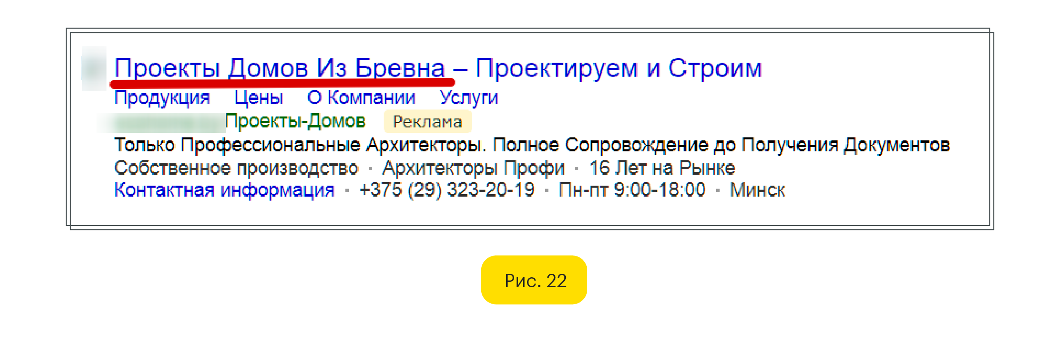 Текстовое объявление Яндекс Директ