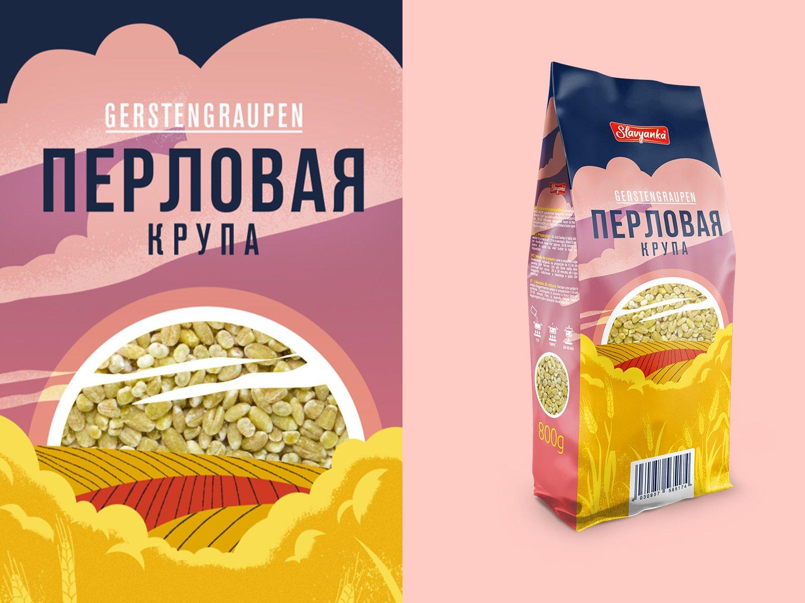 Дизайн упаковки для риса, гречки и других сыпучих продуктов